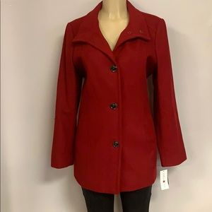 NWTs Women's Red Pea Coat
